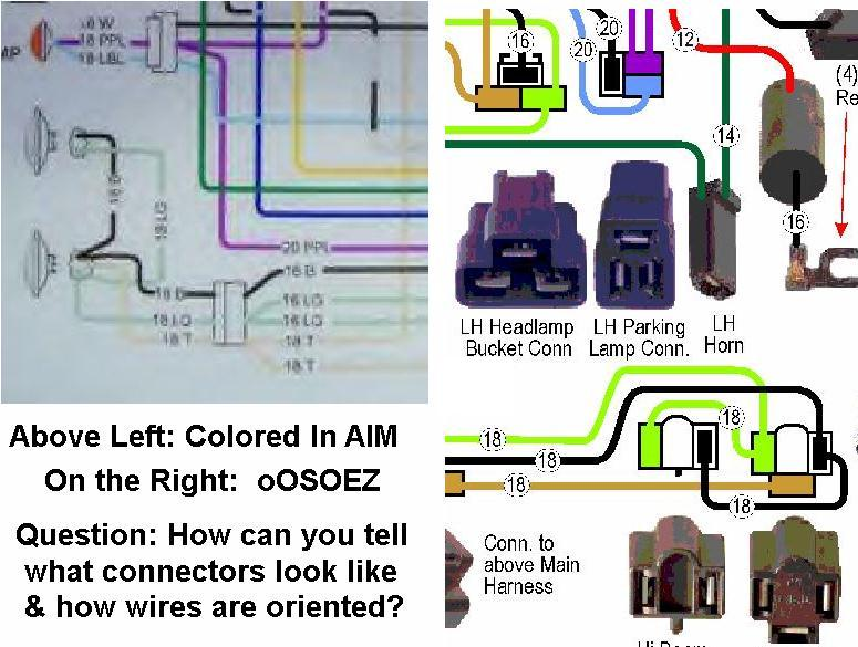 docrebuild s oosoez wiring guides note there actually are two separate purple wires entering the parking lamp connector they do not splice together